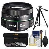 Pentax 50mm f/1.8 DA SMC Lens with 3 UV/CPL/ND8 Filters + Tripod + Kit