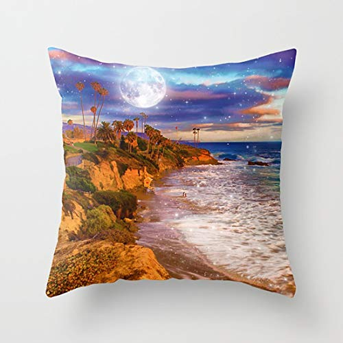 Lttedeng Pillow Laguna Moon Throw Pillow case with Soft Comfortable Feeling for Car and Chair