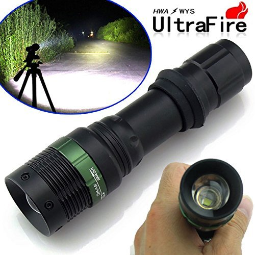 Ultrafire 10,000Lumens CREE XM-L T6 Tactical Zoomable 18650 LED Flashlight Torch