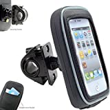 AccessoryBasics 360° Swivel Smartphone Bike Motorcycle Handlebar Mount w/Detachable Water Resistant 3D Touch Enable Case for iPhone XR XS MAX X 8 Plus Galaxy S9 S10 Note (Fits pole/bar up to 1.4 inch