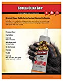 Gorilla Clear Grip Contact Adhesive, Waterproof, 3