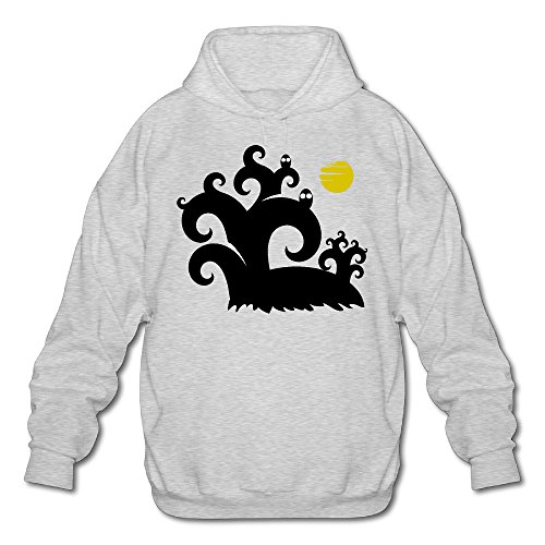 Personalized Designer Thin Forest Halloween Men's Adult Long Sleeves Sweatshirt Cotton