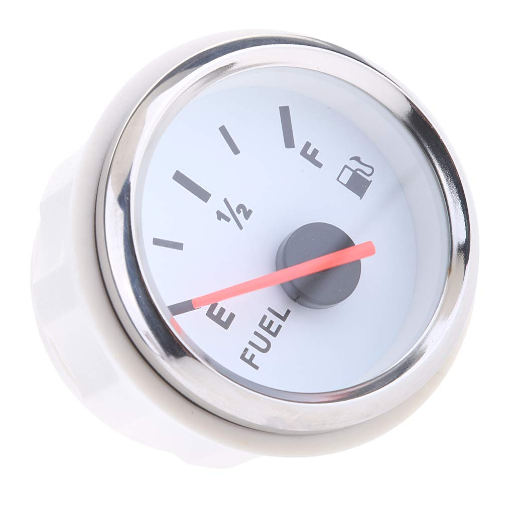 Baoblaze 52mm 2 Car Boat Fuel Level Gauge Meter E-1//2-F Pointer LED Light Display