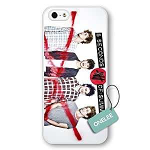 Onelee(TM) - Personalized Popular Band 5 Seconds Of Summer 5sos Logo White Plastic iPhone 5/5s Case & Cover - White2 by ruishername