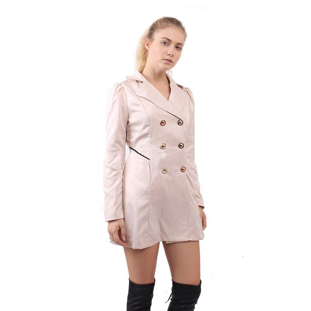 PZJ® Mujer Invierno Abrigo Casual, Mujeres Abrigo Gabardina Chaqueta Parkas Abrigos Chaquetas Mujer Abrigo Largos Mujer Señora con Botón de Moda