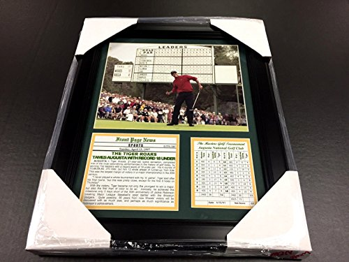11X14 Framed & Matted Tiger Woods -18 Under Record At Augusta 8X10 PHOTO PGA (Photo Woods Tiger)