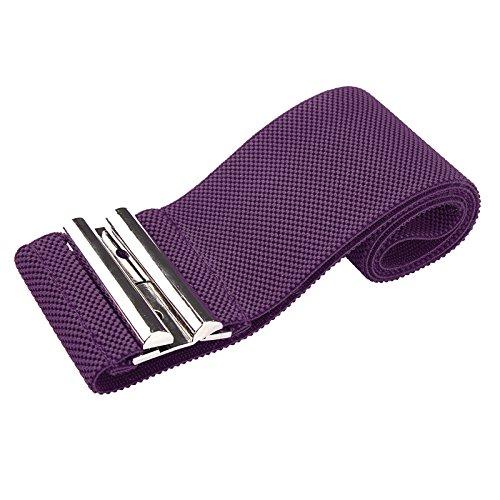 Grace Karin Antique Purple Buckle Thick Elastic High Waist Fashion Belt XL (Grace Antique)