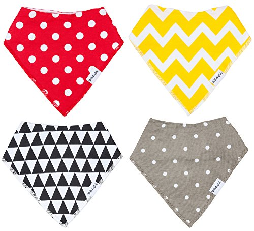 Bandana Bibs for Toddler Girls! New Style's! EXTRA ABSORBENT By THE BLUSHING BABY by THE BLUSHING BABY