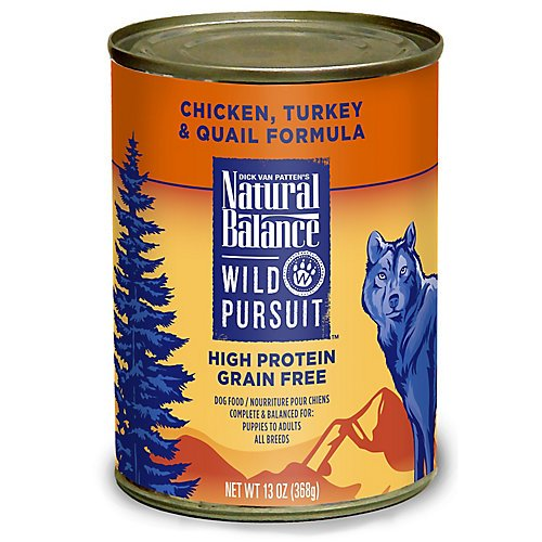 Natural Balance Wild Pursuit Chicken/Turkey/Quail Can Dog Food, 13 oz, Pack of 12 by Natural Balance