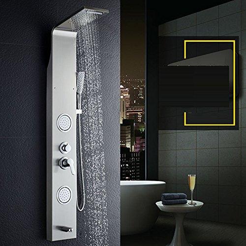 ZYHYMampara de ducha de estilo europeo, juego de ducha, baño de ...