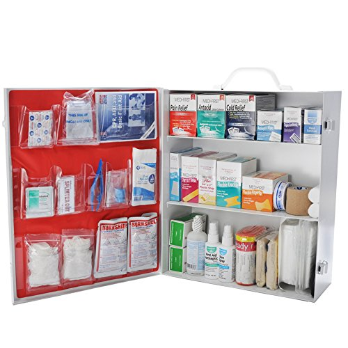 - Osha First Aid Kit Class B Fill 3 Shelf Metal Kit