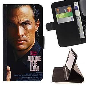 Momo Phone Case / Flip Funda de Cuero Case Cover - Por encima de la ley- Seagal;;;;;;;; - HTC DESIRE 816