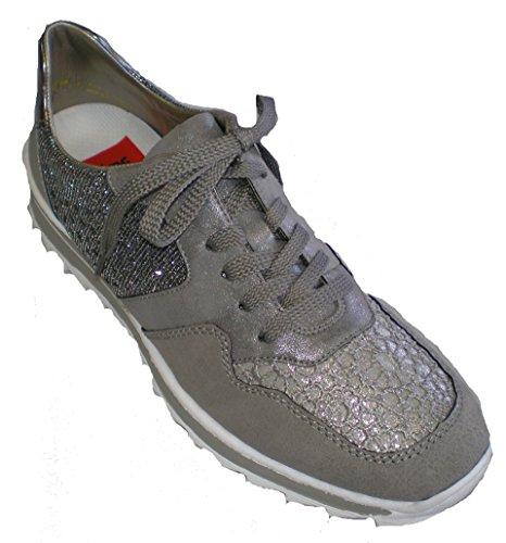 Rieker M6915-42 mujer Sneaker gris