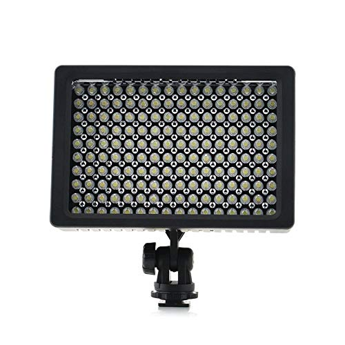1set Camera HD 160 LED Video Light Lamp 12W 1280LM 5600K//3200K Dimmable for Canon for Nikon for Pentax Camera Video Camcorder