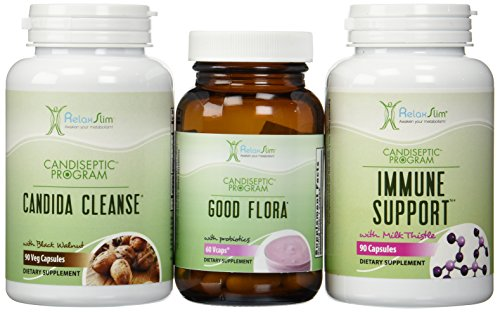 RelaxSlim Candida Albicans Treatment, Formulated by Award Winning Metabolism and Weight Loss Specialist- Full Detox and Cleanse of Fungus for Health and Weight Loss Aid by RelaxSlim  (Image #1)