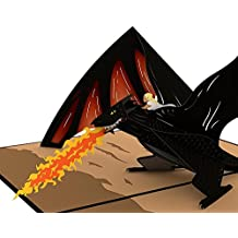 Lovepop Drogon and Daenerys Game of Thrones Pop Up Card, 3D Card, Greeting Card