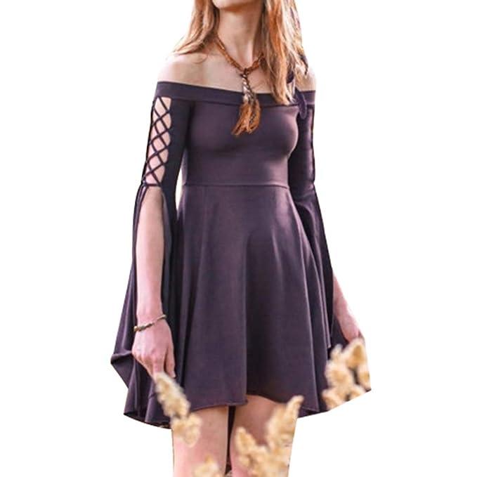 Mujeres Color Sólido Mini Vestido Vintage Traje Medieval Mujer ...