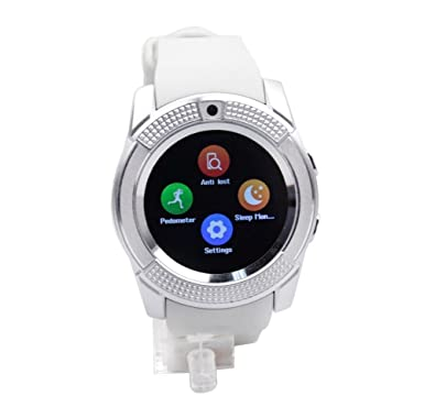 voyto nueva esfera redonda 2017 Bluetooth reloj inteligente/teléfono cámara SIM card-pedometer