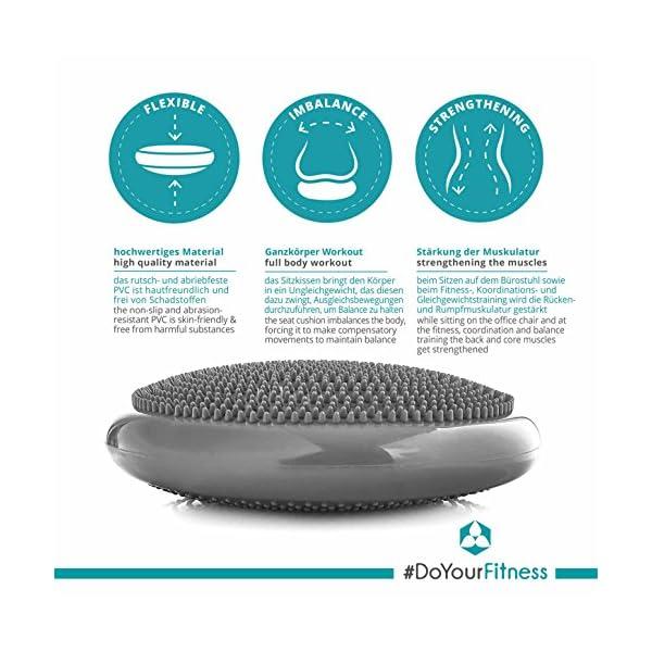 #DoYourFitness® Coussin d'assise « PumpUp » avec Pompe/Coussin Gonflable/pour la préparation à l'accouchement et la…