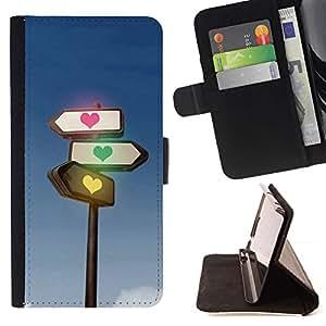 Momo Phone Case / Flip Funda de Cuero Case Cover - Tráfico corazón ligero - Samsung Galaxy J3 GSM-J300