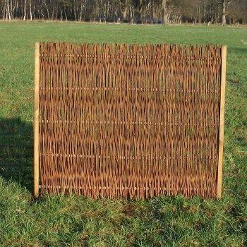 Weidenzaun / Flechtzaun 'Norman' als Sichtschutz und Windschutz - Sichtschutzzaun 1 Stück, 120 cm x 100 cm