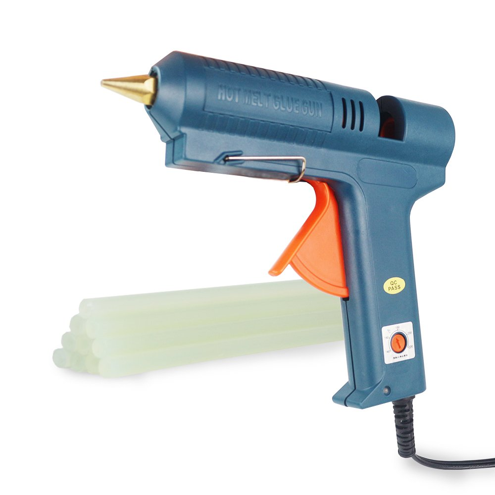 Hot Glue Gun Adjustable Temperature DIY Tool with 10 Pcs Glue Sticks for Crafts Seal Maintenance