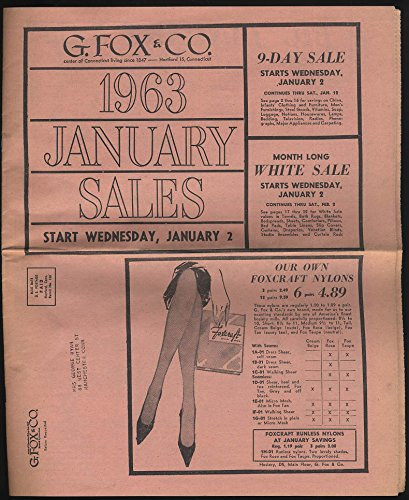 G Fox & Company 1963 January Sales circular Hartford CT household fashions +