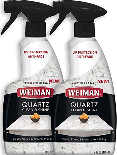 Quartz Countertop Cleaner and Polish (2 Pack) Clean and Shine Your Quartz Countertops Islands and Stone Surfaces with Ultra Violet Protection