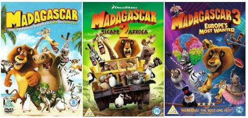 madagascar 1 and 2 dvd