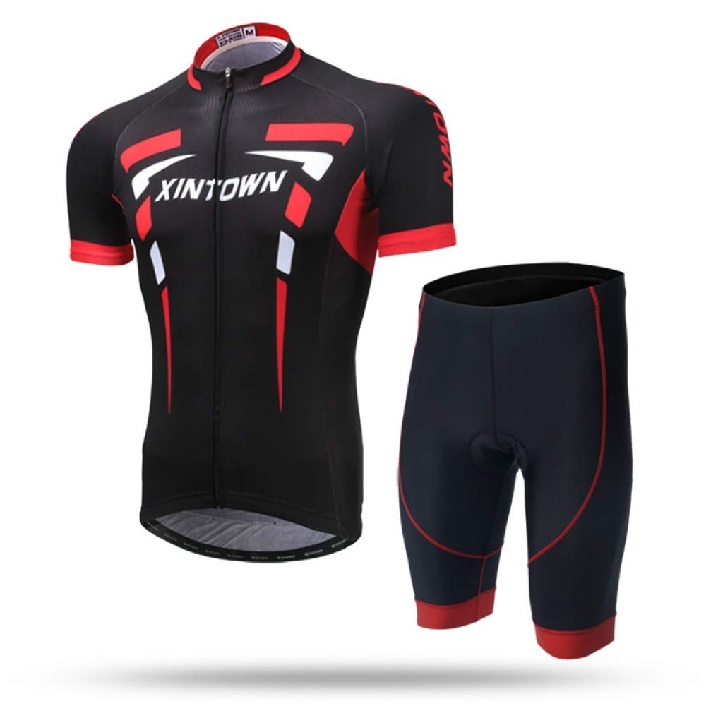 A 3XL CZPF Men's Compression Shirt  Suit Jersey Short Summer Short Sleeve Suit Breathable and Quick-Drying