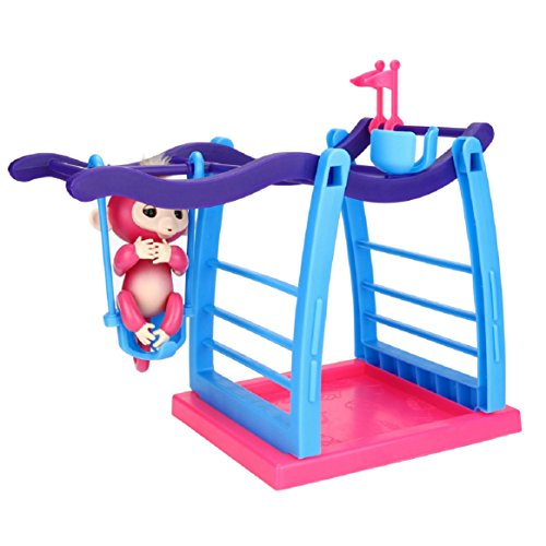 Coerni Fingerlings Playset - Jungle Gym Climbing Stand for Fingerlings Baby (Magic Mirror Halloween Prop)