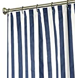 Extra Long Shower Curtain Fabric Shower Curtains Blue and White Shower Curtain Striped 84 Inch