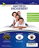 Eastern King Bed King Mattress Protector Bedbug Waterproof Zippered Encasement Hypoallergenic Premium Quality Cover Protects Against Dust Mites Allergens