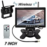 Cheap Ehotchpotch Car Vehicle Backup Camera & Monitor with 7″ Display, Parking Assistance System for RV Trailer Bus Truck Caravan Car, Wireless Reversing Car Rear View Camera Waterproof, Night Vision