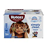Huggies Simply Clean Fragrance Free Baby Wipes Retail Case, 768 Count