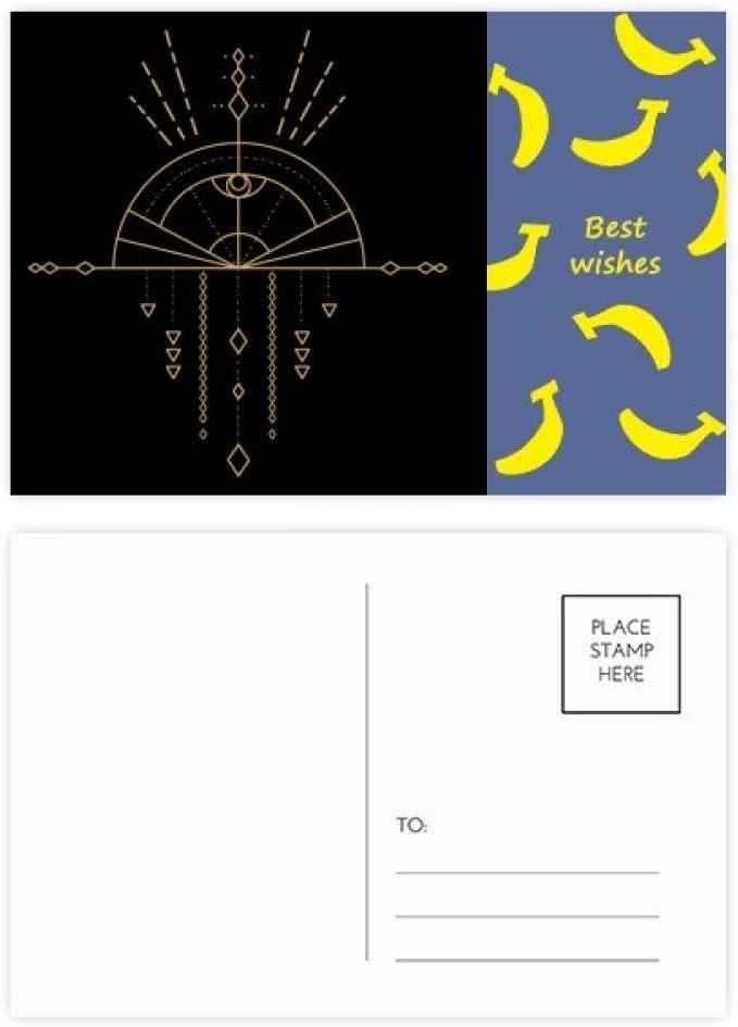 Totem Pattern Geometry Fan Alien Banana Postcard Set Thanks Card Mailing Side 20pcs