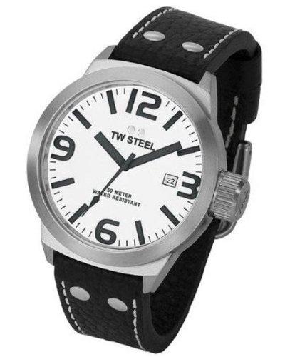 TW Steel ICON TW-621 - Reloj de mujer de cuarzo, correa de piel color blanco: Amazon.es: Relojes
