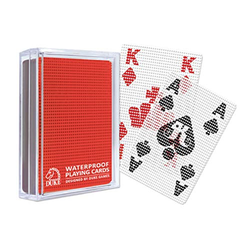 Transparent Playing Cards - Red Dot Pattern
