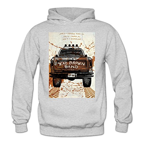 Tommery Women's Zac Brown Art Long Sleeve Sweatshirts Hoodie