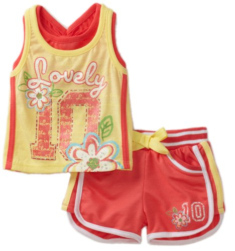 Young Hearts Baby Girls' French Terry Short Set