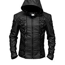 Vearfit Stephen Amell Arrow Roy Harper mens Faux Leather Jacket