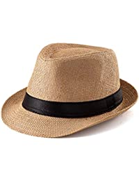 9c1724721b6f8 Fedora Hat Mens Fedora Hats for Men Trilby Hat Straw Sun Hat Panama Hat  Reducer