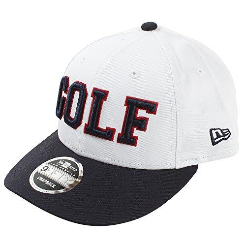 (ニューエラ) NEW ERA ゴルフ キャップ スナップバック 9FIFTY LOW PROFILE ロゴ ホワイト/ネイビー GOLF FREE (サイズ調整可能)