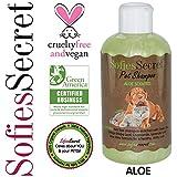 SofiesSecret 100% Natural+Organic Pet Shampoo, Aloe, NO Perfume ORGANIC Extract for Scent, Cruelty Free & Vegan, Green America & Leaping Bunny Certified, 8.5 fl. Oz.