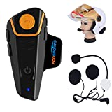 Bluetooth Motorcycle Headset, Fodsports BT-S2 1000M Motorcycle Helmet Intercom Interphone Helmet Communication System Motorcycle/Skiing(GPS,MP3 Handsfree Voice Command,FM Radio,Single Hard Cable)