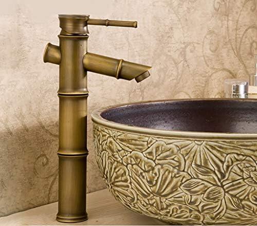 洗面器の蛇口、真鍮のホットとコールドシングルハンドルモノブロックの蛇口、ヨーロッパのレトロクラシックタップ 洗面器の蛇口 (Size : 31cm)