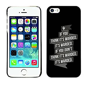 GagaDesign Phone Accessories: Hard Case Cover for Apple iPhone 5 5S - It's Warded by Maris's Diary