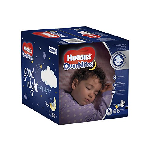 Large Product Image of HUGGIES OverNites Diapers, Size 5 for over 27 lbs., Pack of 66 Overnight Baby Diapers