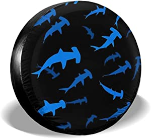 RWNFA Marshall Islands Flag Spare Tire Cover Rainproof for Travel Trailer RV, SUV,Camper Accessories and Various Vehicles 14 15 16 17 Inch
