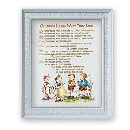 Gerffert Collection Bedtime Prayes Framed Portrait Print, 11 1/2 Inch - Children Learn What They Live - Live Portrait